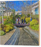 J Paul Getty Museum Garden Terrace Wood Print