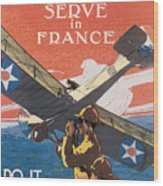 Join The Air Service Wood Print