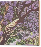 Jacaranda Avenue Wood Print