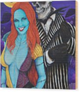 Jack And Sally Wood Print
