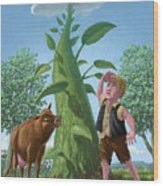 Jack And The Beanstalk Wood Print