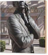 Jack Benny Wood Print by Jeff Lowe