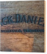 Jack Daniels Oak Barrel Wood Print