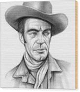 Cowboy Jack Elam Wood Print