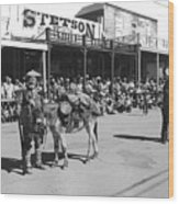 Jack Hendrickson With Pet Burro Number 2 Helldorado Days Parade Tombstone Arizona 1980 Wood Print