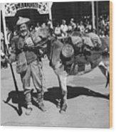 Jack Hendrickson With Pet Burro Number 3 Helldorado Days Parade Tombstone Arizona 1980 Wood Print