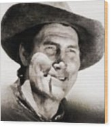 Jack Palance, Vintage Actor Wood Print