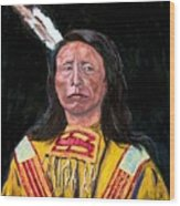 Jack Red Cloud Wood Print