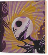 Jack Skellington Wood Print by Tai Taeoalii