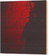 Jack The Ripper In Red Light Wood Print