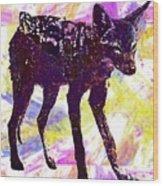 Jackal Children Watercolor Animal  Wood Print