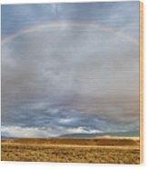 Jackson Hole Rainbow Wood Print