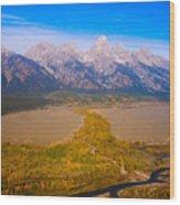 Jackson Hole Wy Tetons National Park Views Wood Print