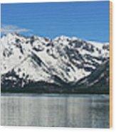 Jackson Lake Teton Panorama Wood Print