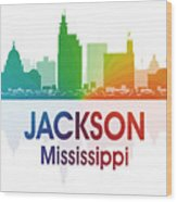 Jackson Ms Wood Print by Angelina Vick