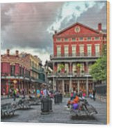 Jackson Square Evening Wood Print