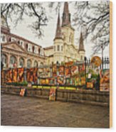 Jackson Square Winter - Artistic Wood Print