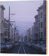 Jackson Street San Francisco Wood Print
