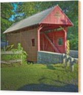 Jackson's Mill Covered Bridge Wood Print