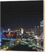 Jacksonville Fl At Night Wood Print