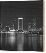 Jacksonville Landing At Night Wood Print
