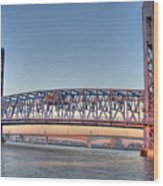 Jacksonville's Blue Bridge At Sunrise Wood Print