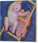 Jacob And Essau-yin Yang Wood Print