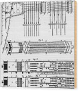 Jacquard Card For Silk Weaving Wood Print
