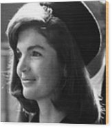 Jacqueline Kennedy, Joins The President Wood Print by Everett