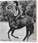 Jacqueline Kennedy, Riding A Horse Wood Print