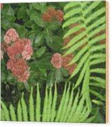 Jacqueline's Garden - Camaraderie Of Textures Too Wood Print