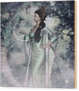 Jade Green Empress Wood Print