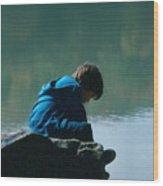 Jadon Pondering Wood Print