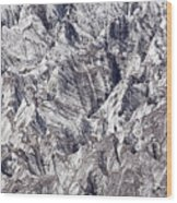 Jagged Glacier Wood Print