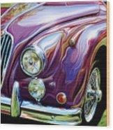 Jaguar 140 Coupe Wood Print by David Kyte