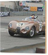Jaguar C-type At Monaco Wood Print