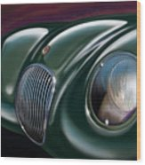 Jaguar C Type Wood Print by David Kyte