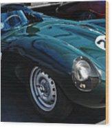 Jaguar D Type Wood Print
