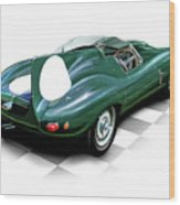 Jaguar D Type Wood Print by David Kyte
