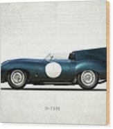 Jaguar D-type Wood Print by Mark Rogan