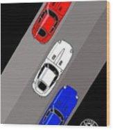 Jaguar E-type - 3 Times The Fun Wood Print
