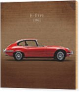 Jaguar E Type Wood Print