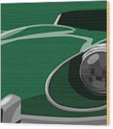 Jaguar E-type Wood Print by Michael Tompsett