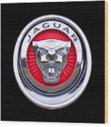 Jaguar Emblem Wood Print