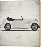 Jaguar Mark Iv Coupe Wood Print by Mark Rogan