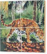Jaguar On The Hunt Wood Print