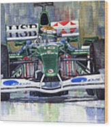 Jaguar R3 Cosworth F1 2002 Eddie Irvine Wood Print
