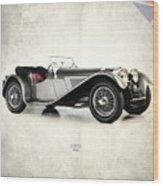 Jaguar Ss100 1936 Wood Print by Mark Rogan
