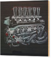 Jaguar V12 Twr Engine Wood Print