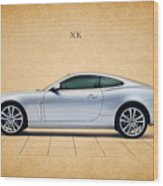Jaguar Xk Wood Print by Mark Rogan